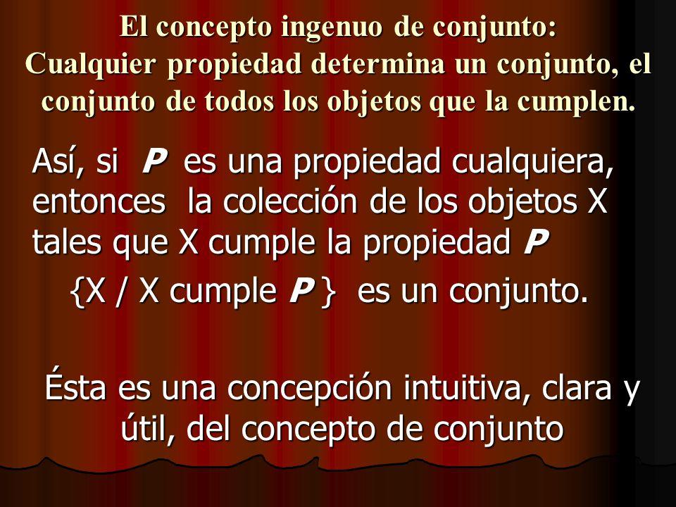 {X / X cumple P } es un conjunto.