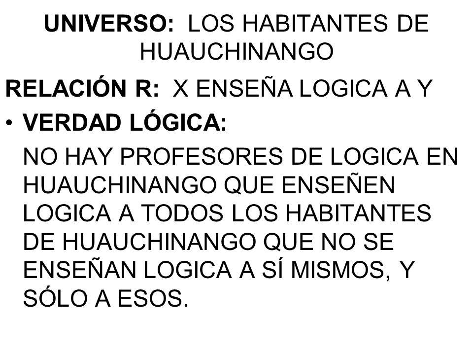 UNIVERSO: LOS HABITANTES DE HUAUCHINANGO