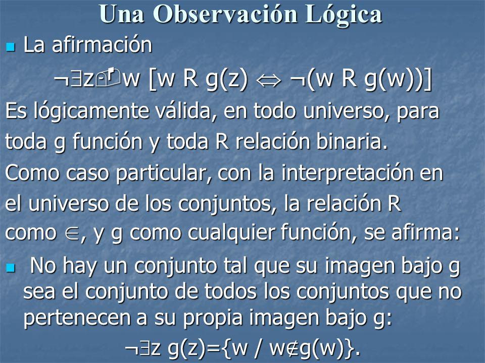 Una Observación Lógica