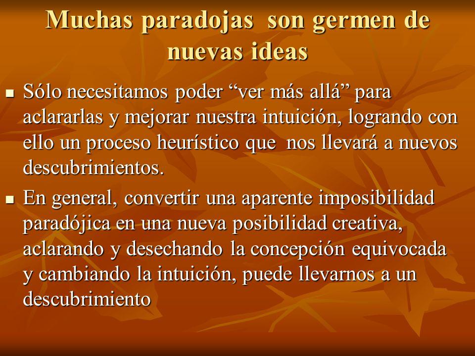 Muchas paradojas son germen de nuevas ideas