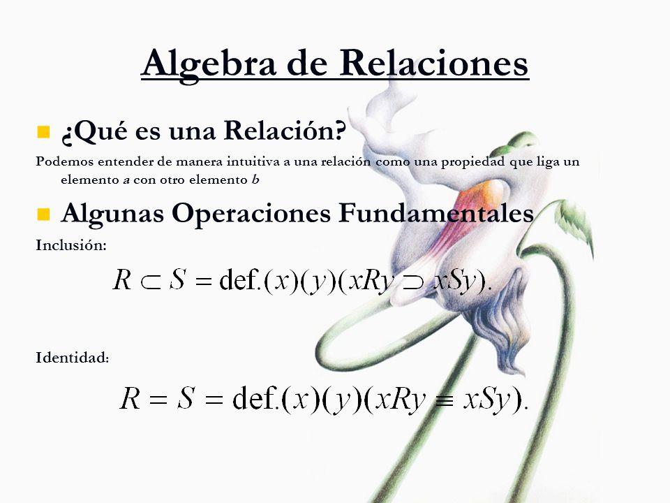 Algebra de Relaciones ¿Qué es una Relación