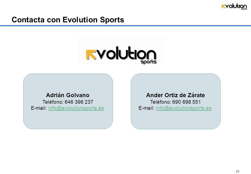 Contacta con Evolution Sports
