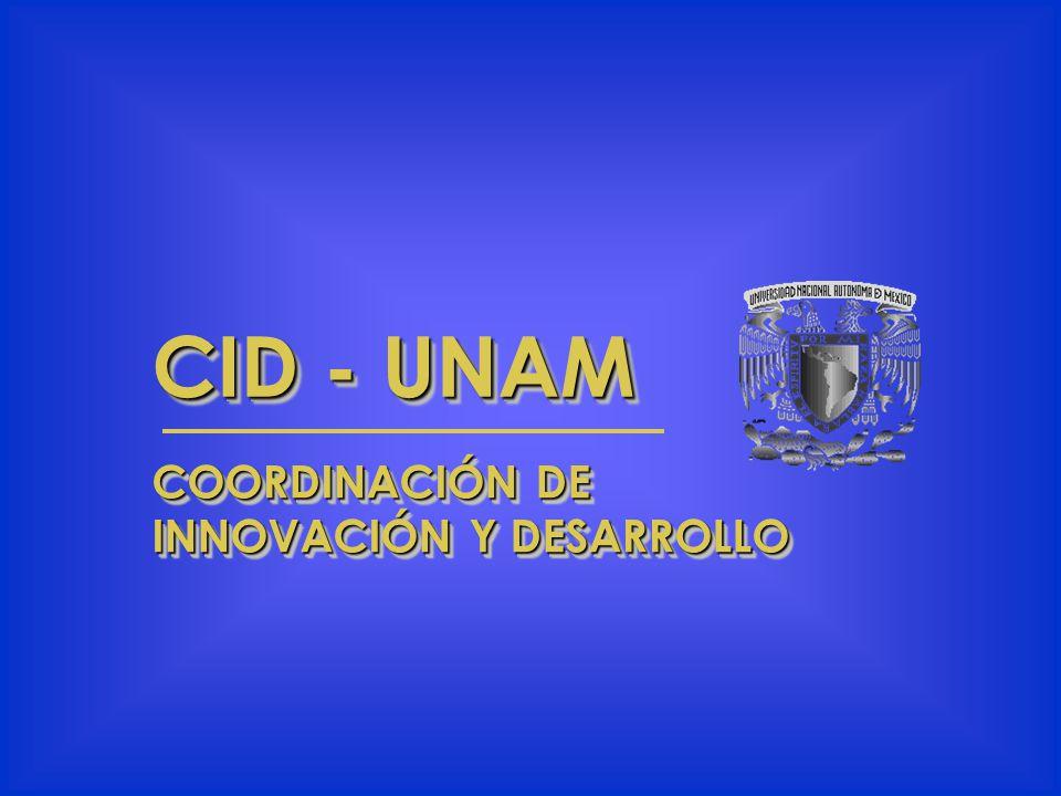 CID - UNAM COORDINACIÓN DE INNOVACIÓN Y DESARROLLO