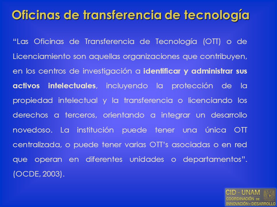 Oficinas de transferencia de tecnología
