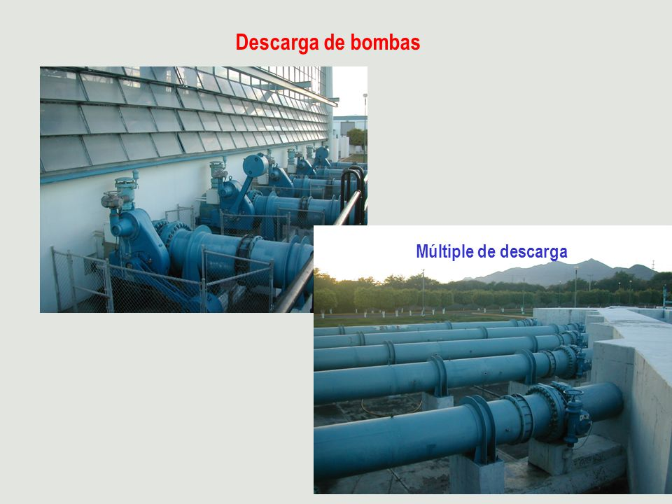 Descarga de bombas Múltiple de descarga