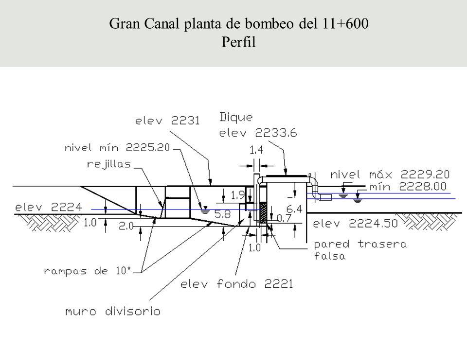 Gran Canal planta de bombeo del 11+600
