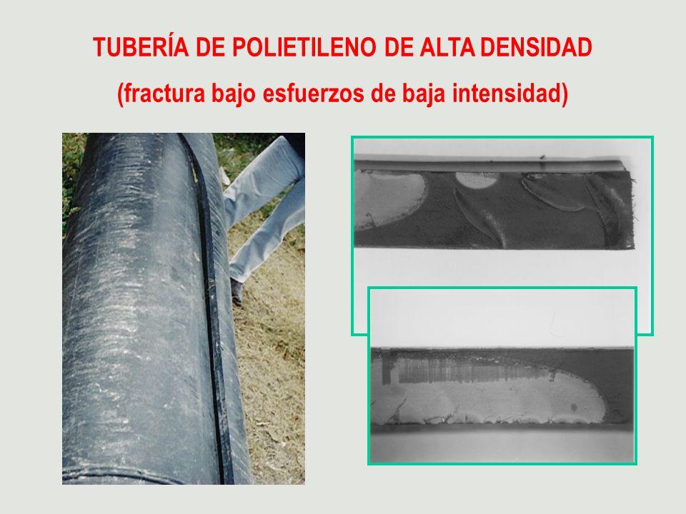 TUBERÍA DE POLIETILENO DE ALTA DENSIDAD (fractura bajo esfuerzos de baja intensidad)
