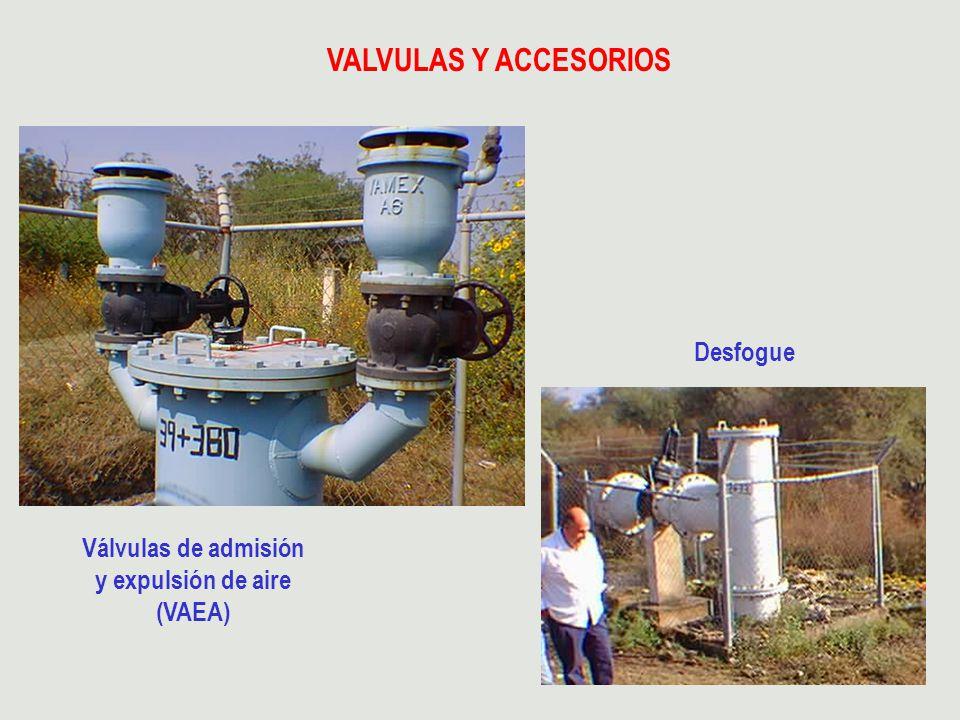 Válvulas de admisión y expulsión de aire (VAEA)