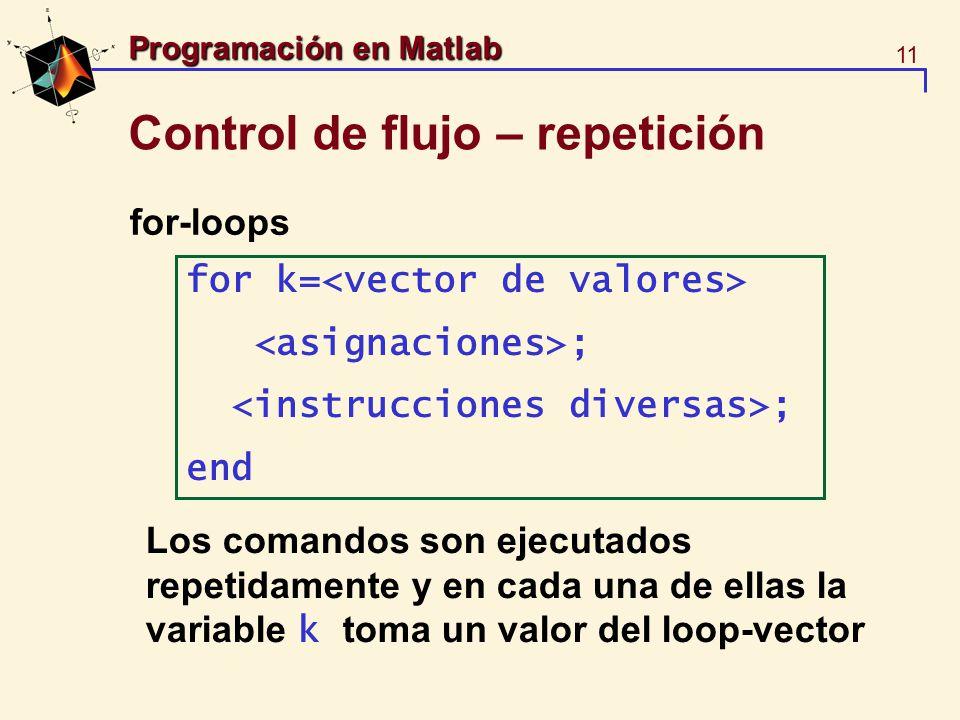 Control de flujo – repetición