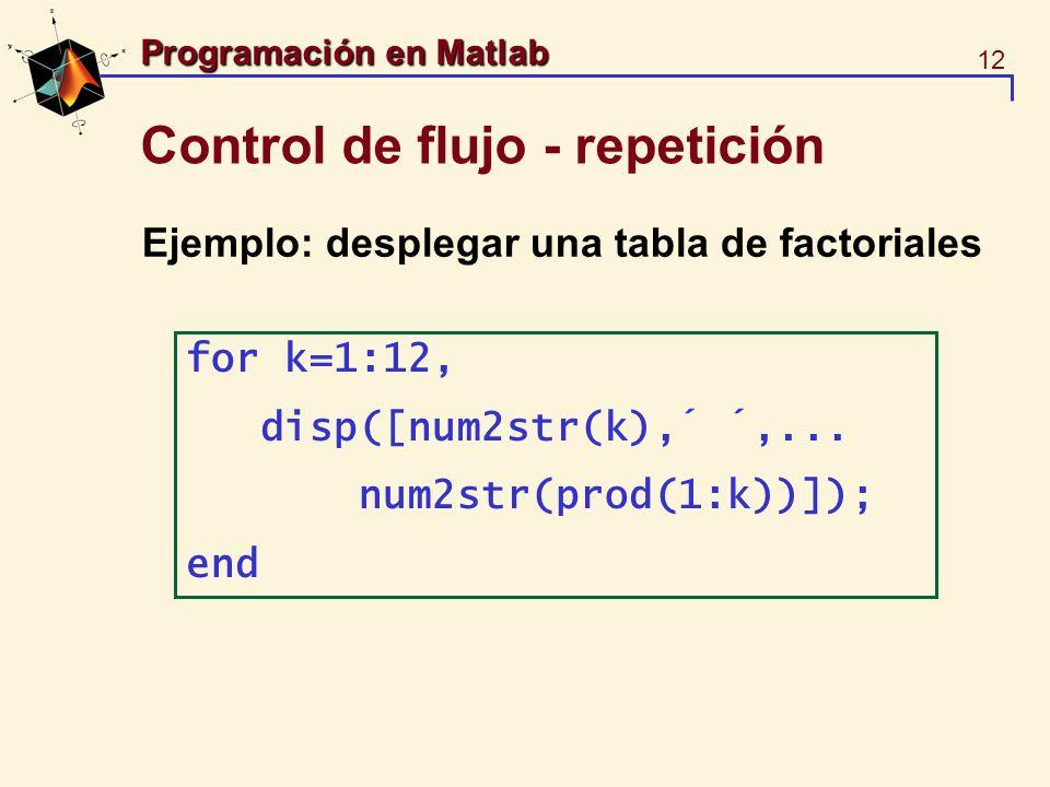 Control de flujo - repetición