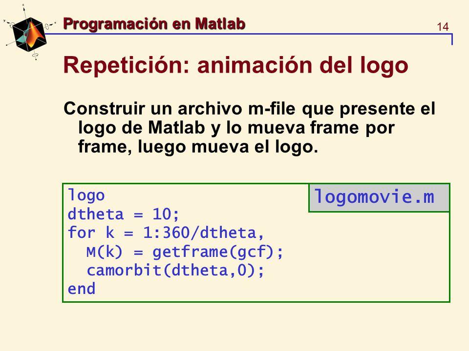 Repetición: animación del logo