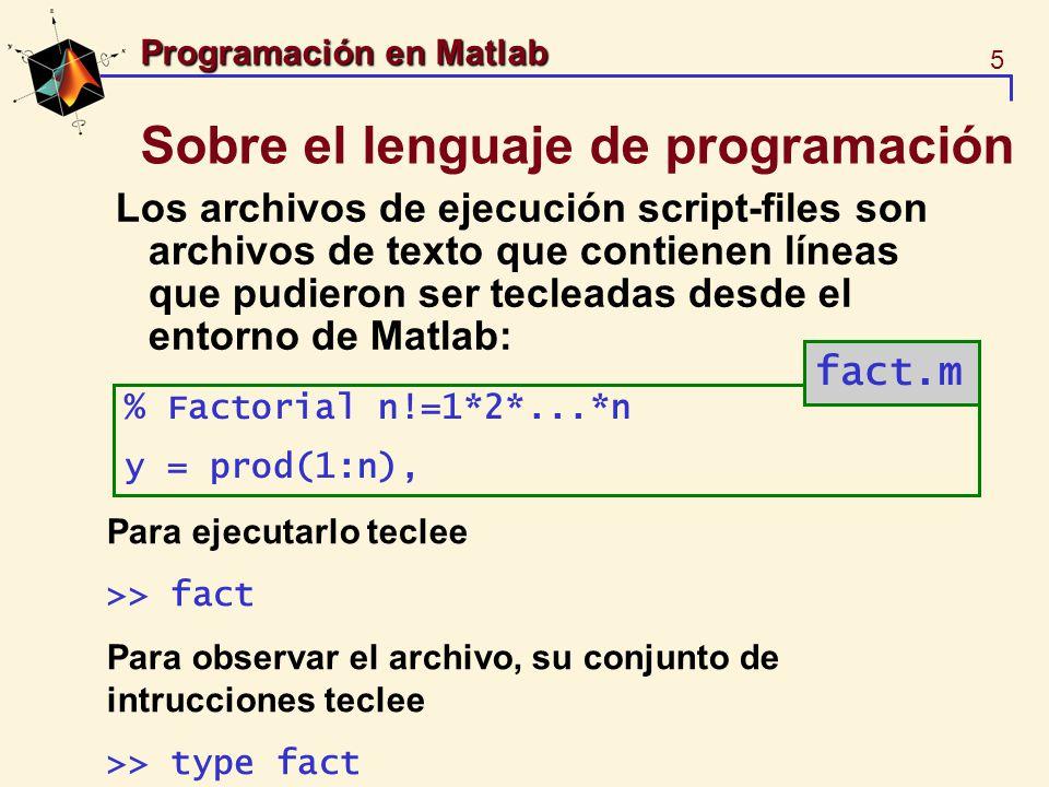 Sobre el lenguaje de programación