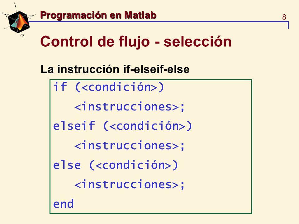 Control de flujo - selección