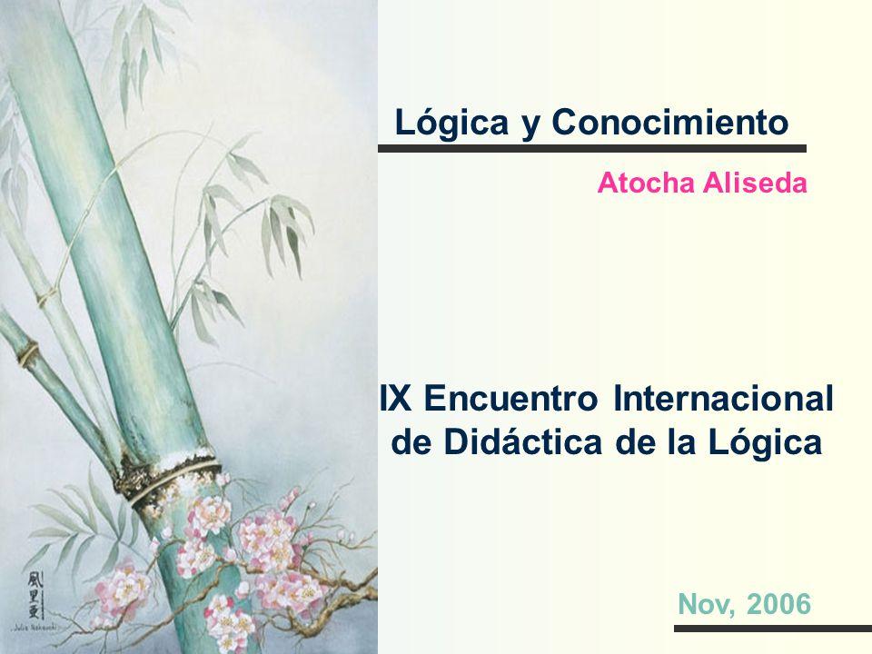 IX Encuentro Internacional de Didáctica de la Lógica