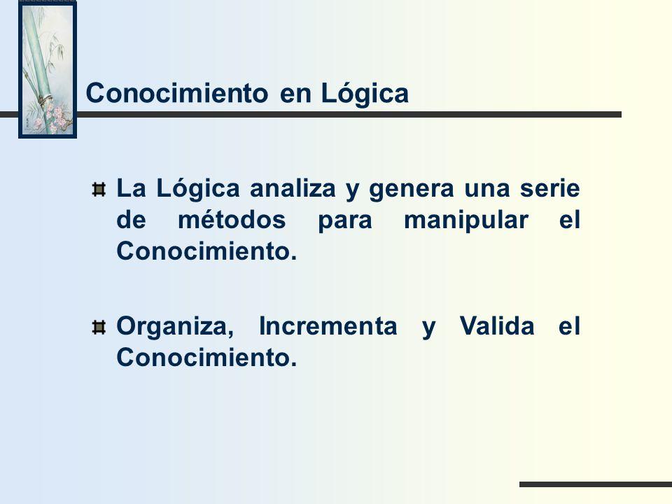 Conocimiento en Lógica