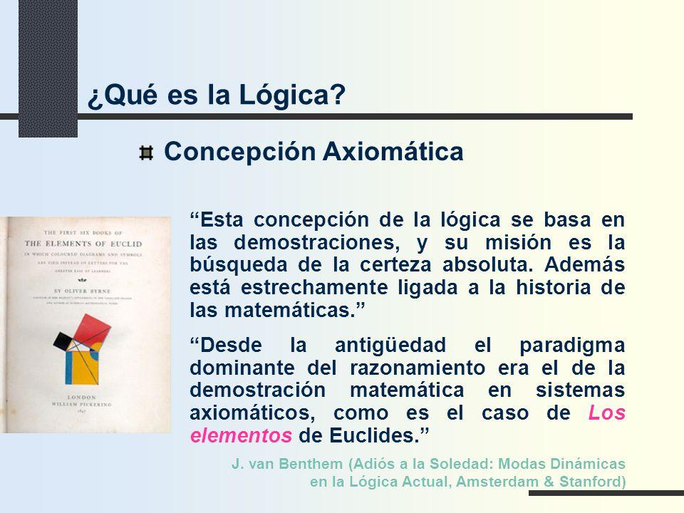 ¿Qué es la Lógica Concepción Axiomática