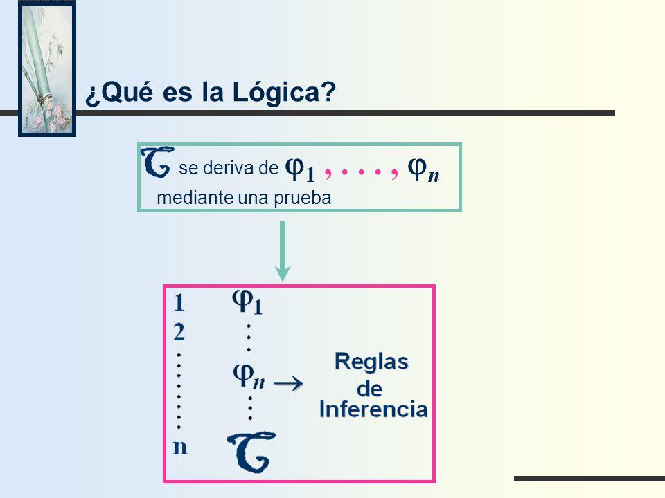 ¿Qué es la Lógica mediante una prueba se deriva de j1 , . . . , jn