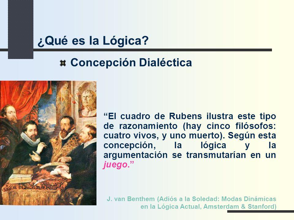 ¿Qué es la Lógica Concepción Dialéctica