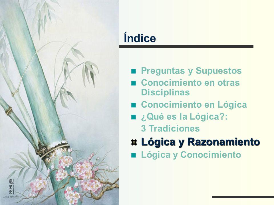 Índice Lógica y Razonamiento Preguntas y Supuestos