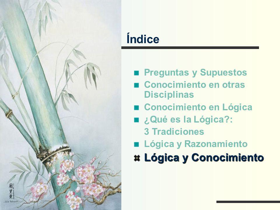 Índice Lógica y Conocimiento Preguntas y Supuestos