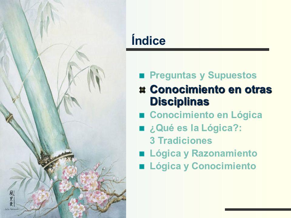 Índice Conocimiento en otras Disciplinas Preguntas y Supuestos