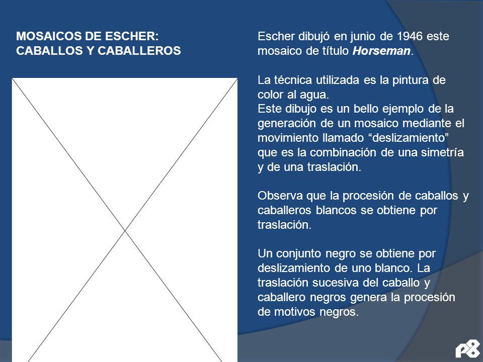 MOSAICOS DE ESCHER: CABALLOS Y CABALLEROS.