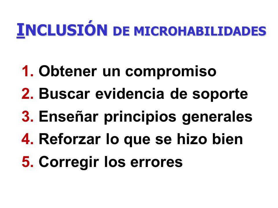 INCLUSIÓN DE MICROHABILIDADES