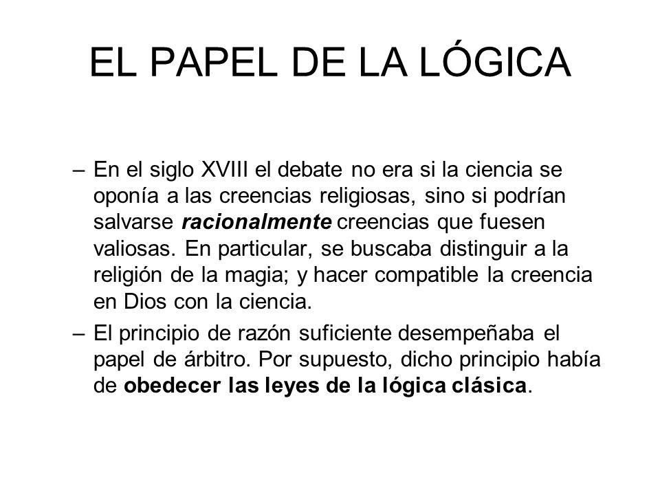 EL PAPEL DE LA LÓGICA