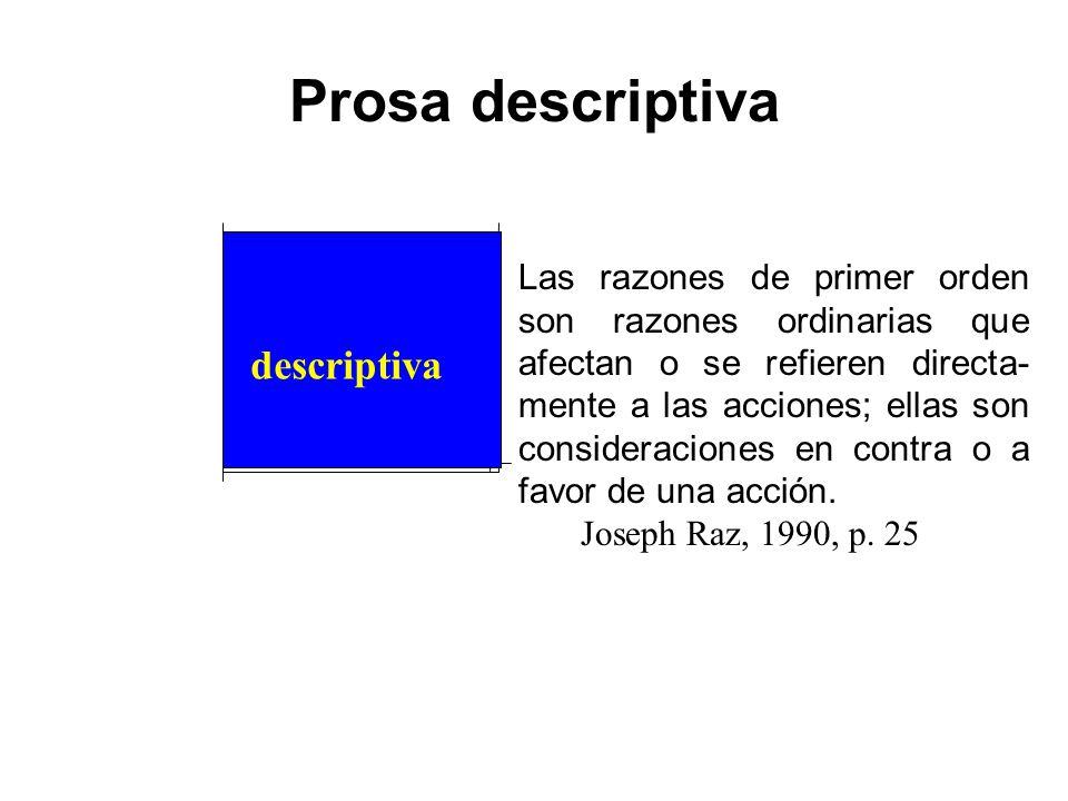Prosa descriptiva descriptiva