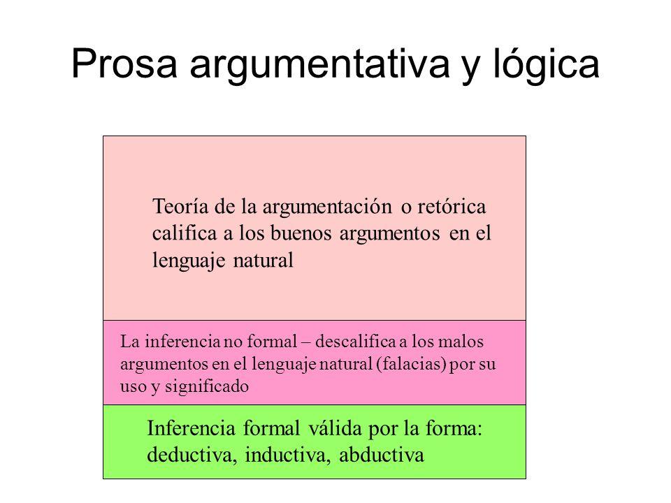 Prosa argumentativa y lógica