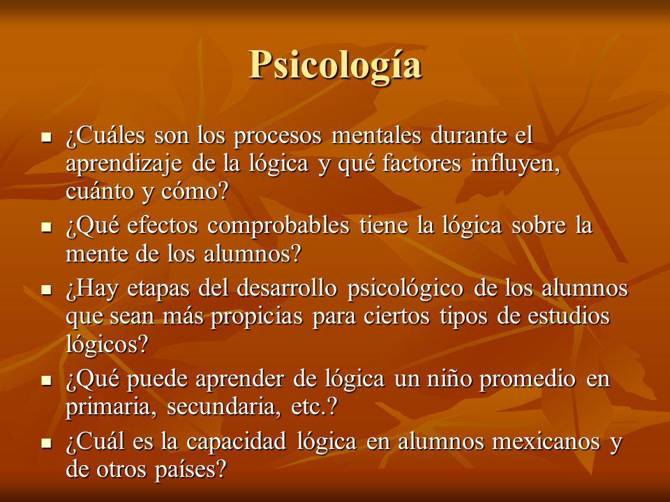 Psicología ¿Cuáles son los procesos mentales durante el aprendizaje de la lógica y qué factores influyen, cuánto y cómo