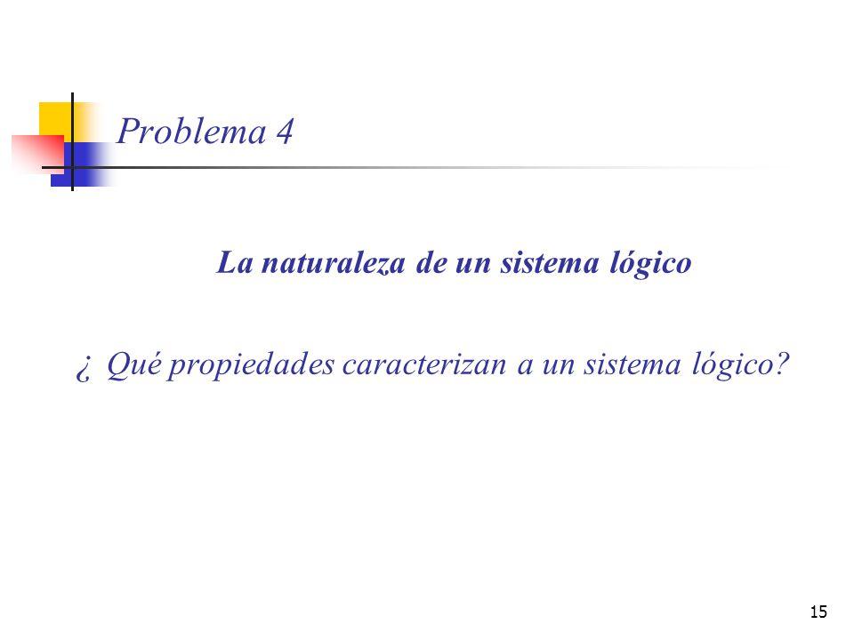 ¿ Qué propiedades caracterizan a un sistema lógico