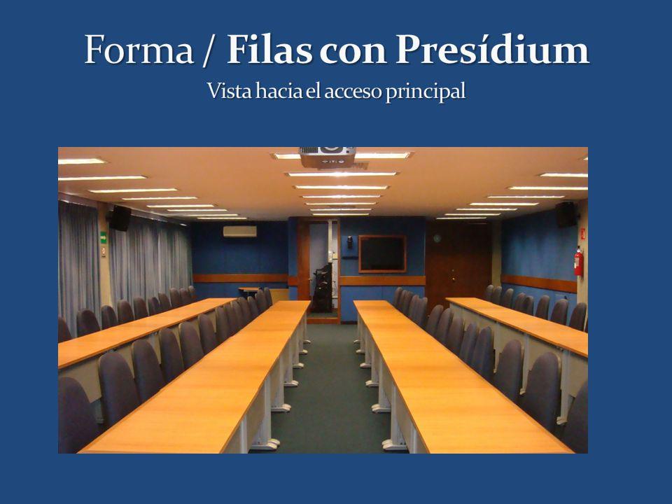 Forma / Filas con Presídium