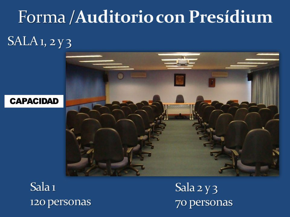 Forma /Auditorio con Presídium