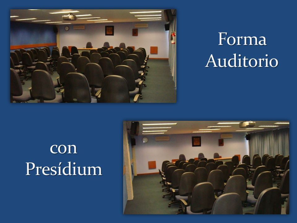 Forma Auditorio con Presídium