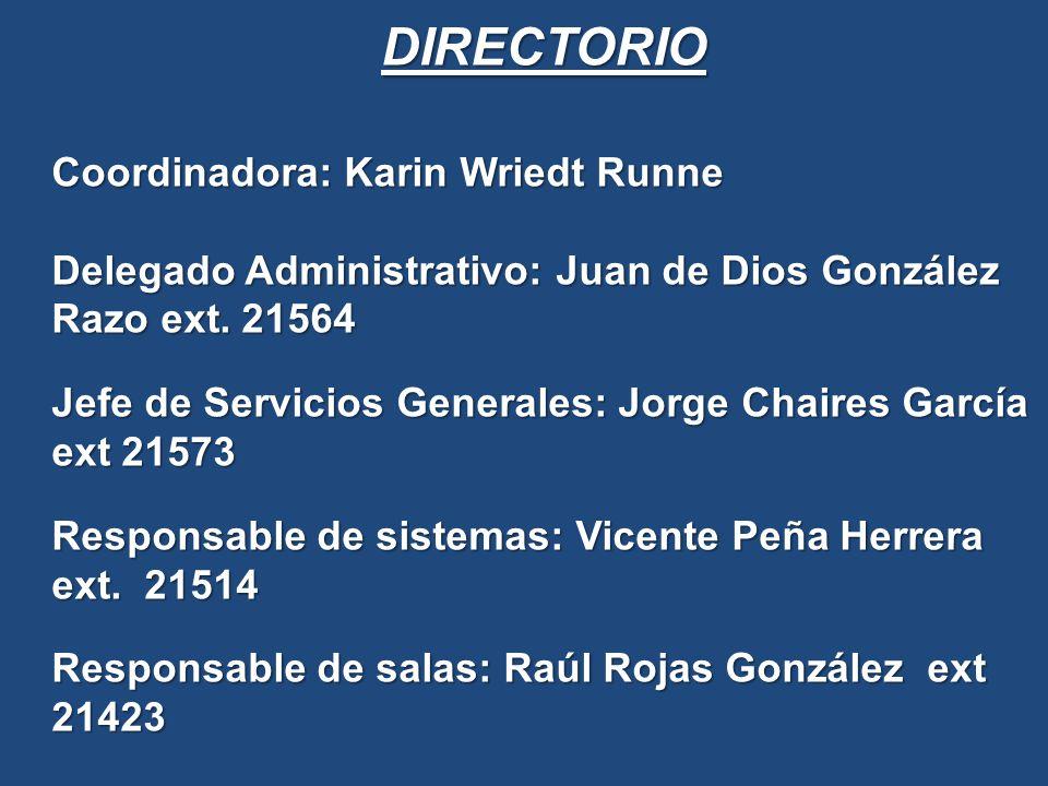 DIRECTORIO Coordinadora: Karin Wriedt Runne