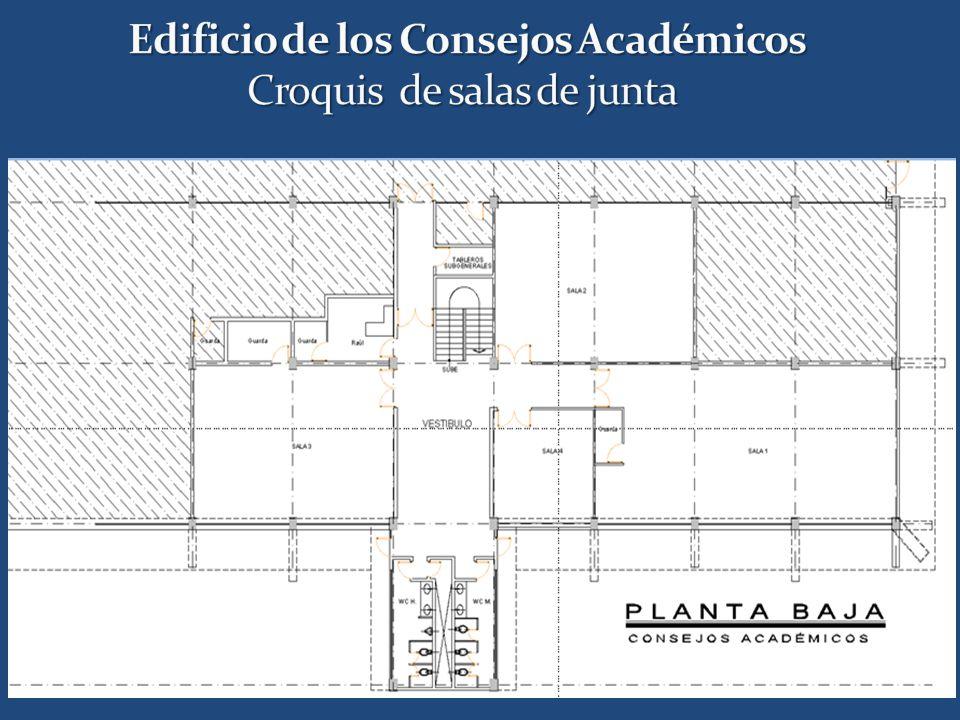Edificio de los Consejos Académicos Croquis de salas de junta