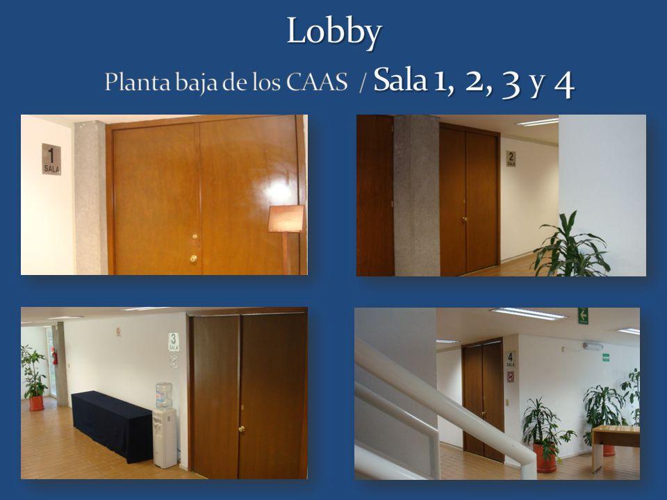 Lobby Planta baja de los CAAS / Sala 1, 2, 3 y 4