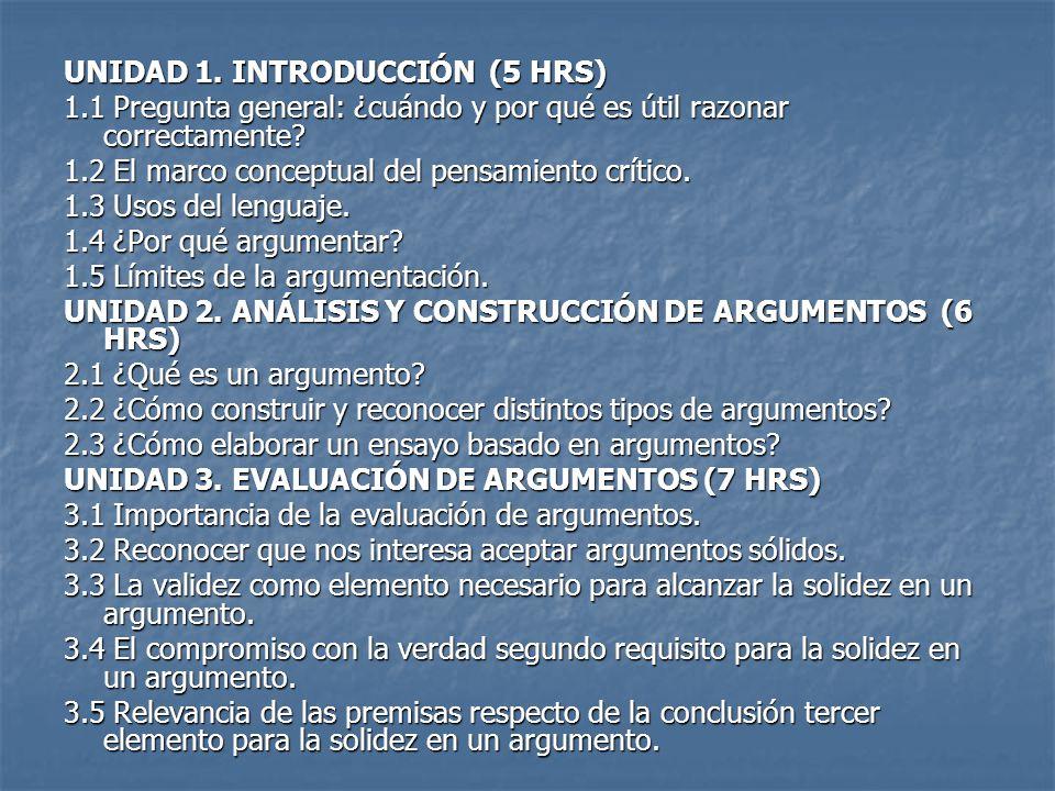 UNIDAD 1. INTRODUCCIÓN (5 HRS)