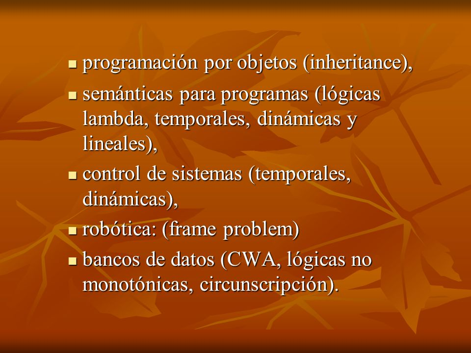 programación por objetos (inheritance),