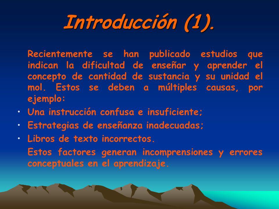 Introducción (1). Una instrucción confusa e insuficiente;