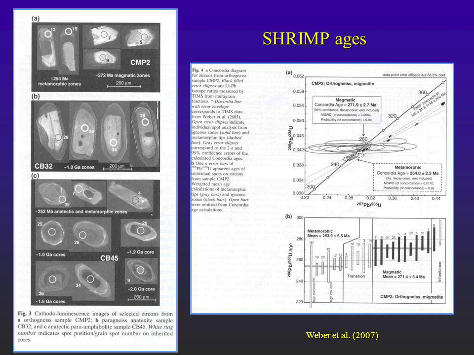 SHRIMP ages Weber et al. (2007)