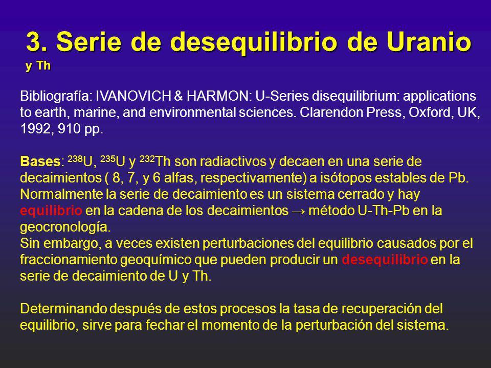 3. Serie de desequilibrio de Uranio y Th