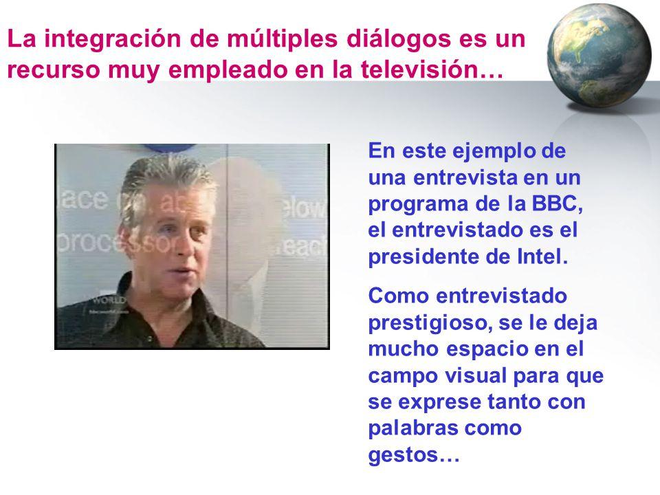 La integración de múltiples diálogos es un recurso muy empleado en la televisión…