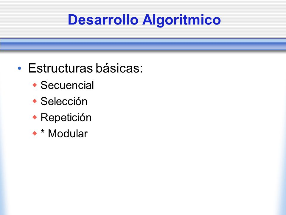 Desarrollo Algoritmico