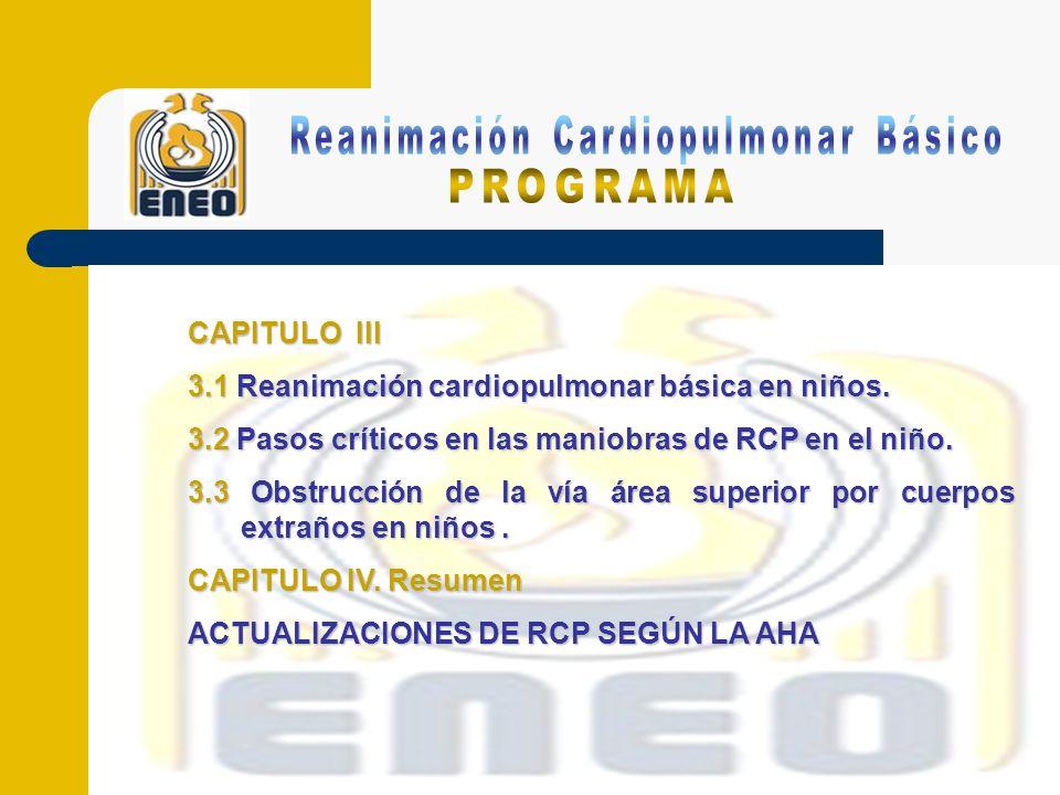 Reanimación Cardiopulmonar Básico