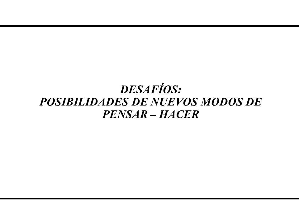POSIBILIDADES DE NUEVOS MODOS DE PENSAR – HACER