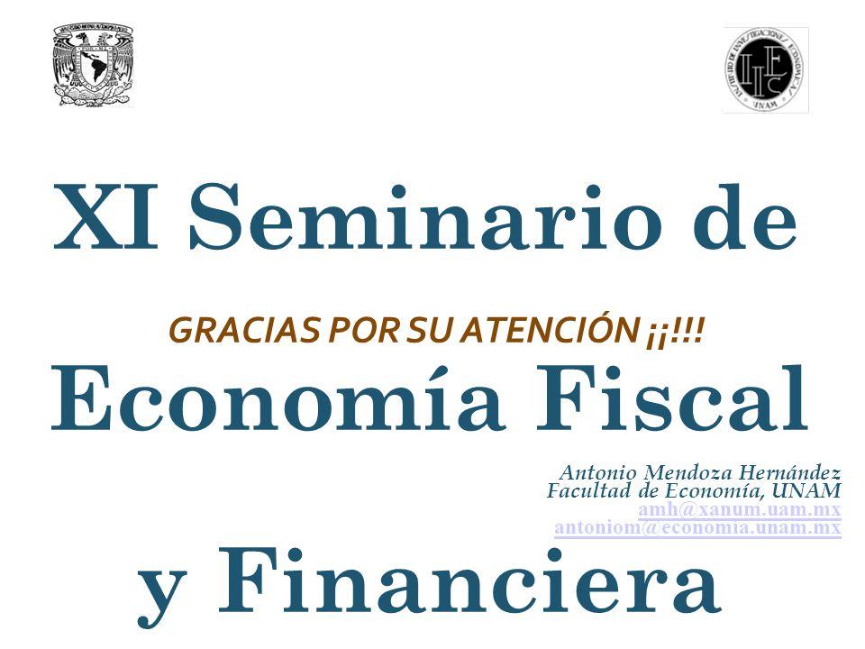 XI Seminario de Economía Fiscal y Financiera