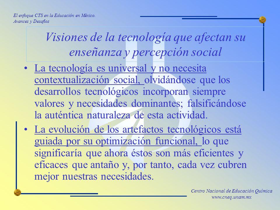 Visiones de la tecnología que afectan su enseñanza y percepción social