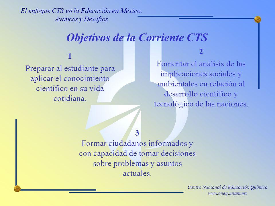 Objetivos de la Corriente CTS
